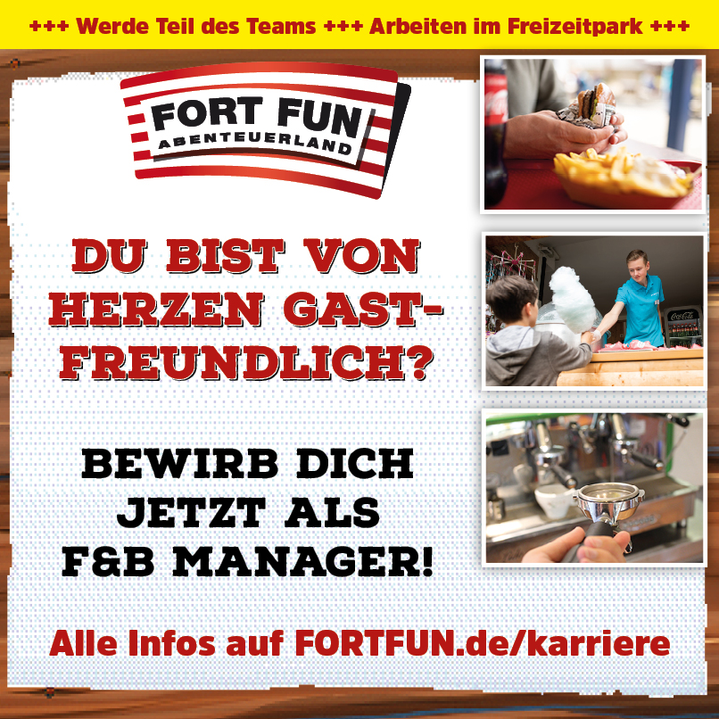 Wir suchen Dich als F&B ManagerIn